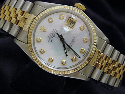 Rolex Two-Tone Datejust 16013 White Diamond-4