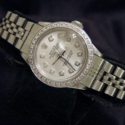 Ladies Rolex Stainless Steel Datejust Silver Diamond (SKU 2930457MT)