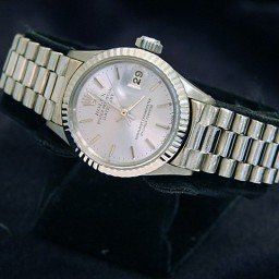Ladies Rolex 18K White Gold Datejust President Silver  6917