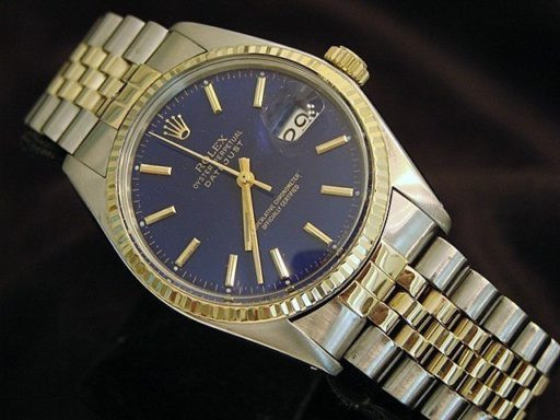 Rolex Two-Tone Datejust 16013 Blue -3