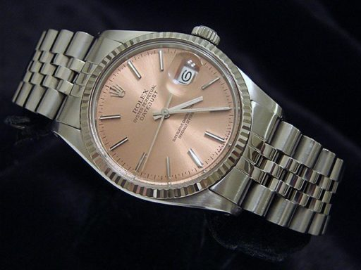Rolex Stainless Steel Datejust 16014 Salmon -4