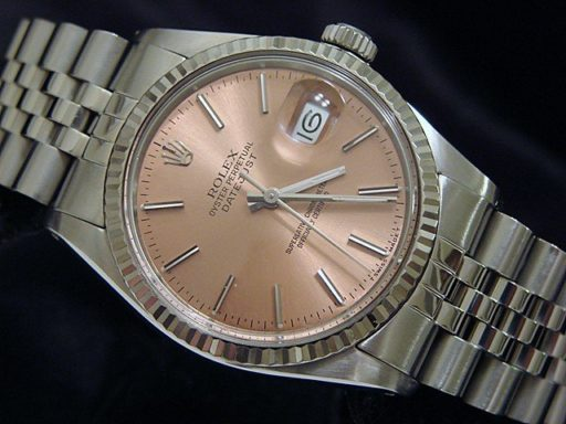 Rolex Stainless Steel Datejust 16014 Salmon -3