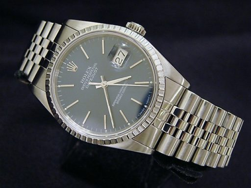 Rolex Stainless Steel Datejust 16220 Blue -8