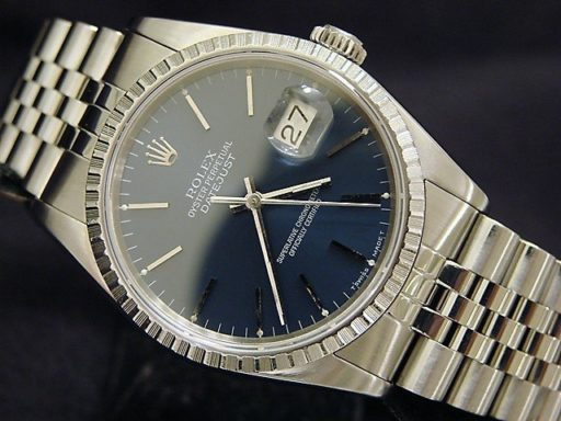 Rolex Stainless Steel Datejust 16220 Blue -6