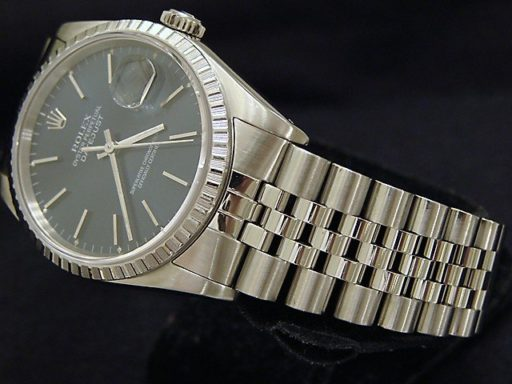 Rolex Stainless Steel Datejust 16220 Blue -5