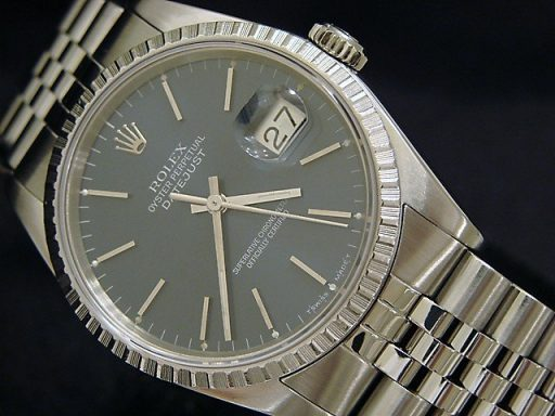 Rolex Stainless Steel Datejust 16220 Blue -4