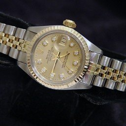 Ladies Rolex Two-Tone 14K/SS Datejust Champagne Diamond 6917