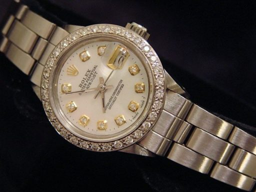 Rolex Stainless Steel Datejust 6917 White MOP Diamond-6