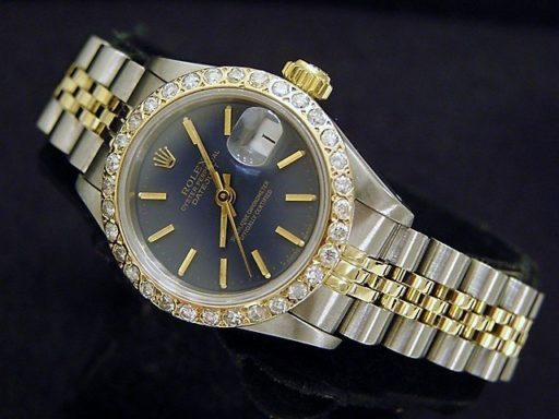 Rolex Two-Tone Datejust 69173 Diamond Blue-6