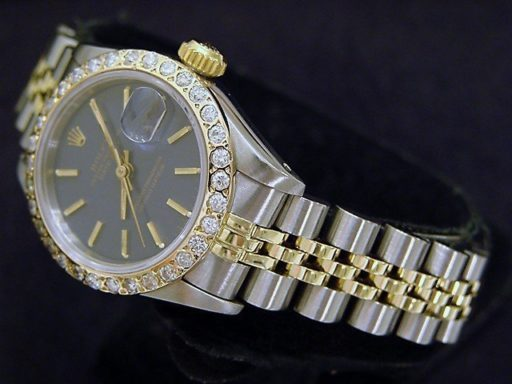 Rolex Two-Tone Datejust 69173 Diamond Blue-5