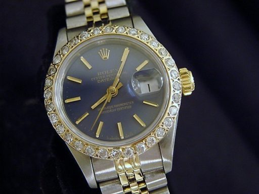Rolex Two-Tone Datejust 69173 Diamond Blue-4
