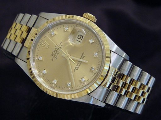 Rolex Two-Tone Datejust 16233 Champagne Diamond-4