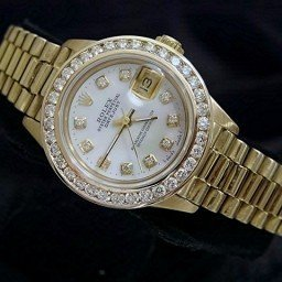 Ladies Rolex 18K Yellow Gold Datejust President White Diamond 6917 (SKU 8050445AMT)