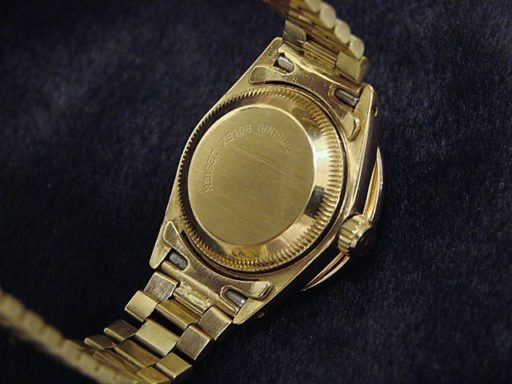 Rolex Yellow Gold Datejust President Diamond 6917 White-1