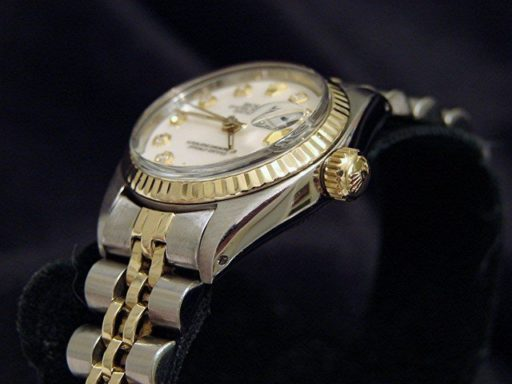 Rolex Two-Tone Datejust 6917 White MOP Diamond-3
