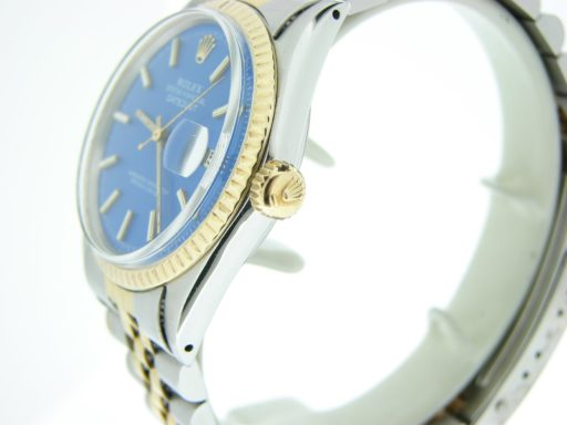 Rolex Two-Tone Datejust 1601 Blue -3