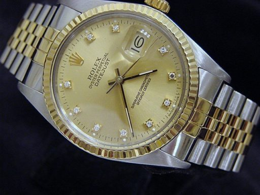 Rolex Two-Tone Datejust 16013 Champagne Diamond-5