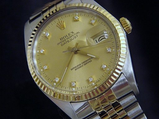 Rolex Two-Tone Datejust 16013 Champagne Diamond-4
