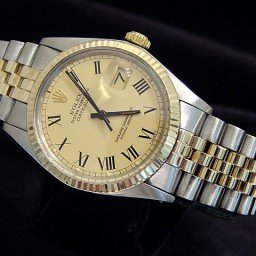 Mens Rolex Two-Tone 14K/SS Datejust Champagne Roman 16013