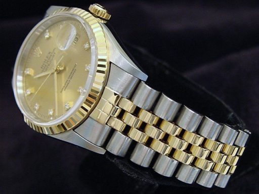 Rolex Two-Tone Datejust 16233 Champagne Diamond-5