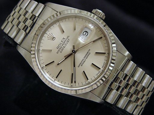 Rolex Stainless Steel Datejust 16234 Silver -5