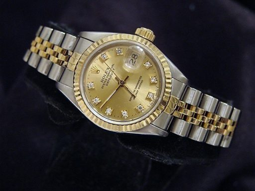 Rolex Two-Tone Datejust 69173 Champagne Diamond-4