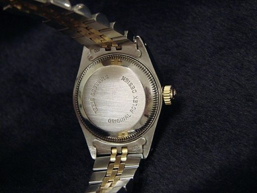 Rolex Two-Tone Datejust 69173 Champagne Diamond-2