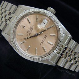 Mens Rolex Stainless Steel Datejust Salmon  16030
