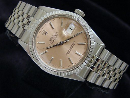 Rolex Stainless Steel Datejust 16030 Salmon -5