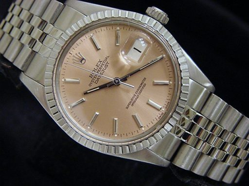 Rolex Stainless Steel Datejust 16030 Salmon -4