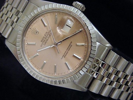 Rolex Stainless Steel Datejust 16030 Salmon -3