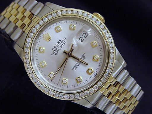 Rolex Two-Tone Datejust 16013 Silver Diamond-5