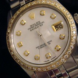 Mens Rolex Stainless Steel Datejust White MOP Diamond (SKU 2865841M)