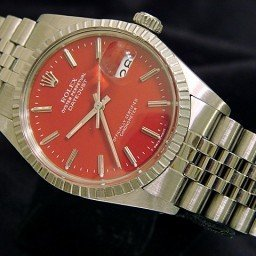 Mens Rolex Stainless Steel Datejust Red  16030