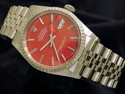 Rolex Stainless Steel Datejust 16030 Red -6