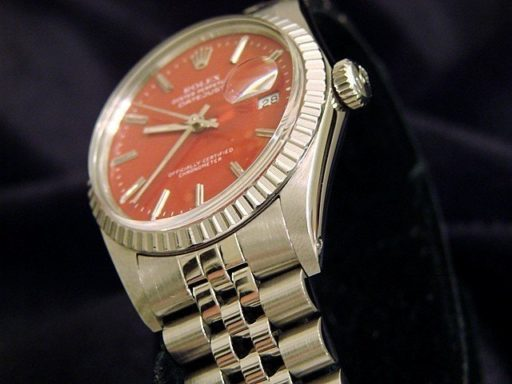 Rolex Stainless Steel Datejust 16030 Red -4