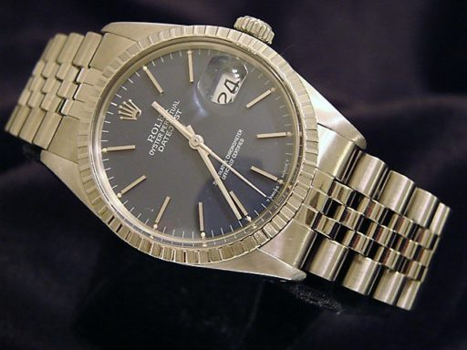 Rolex Stainless Steel Datejust 16030 Blue -7