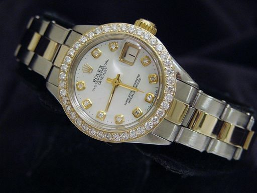 Rolex Two-Tone Datejust 6917 White MOP Diamond-5