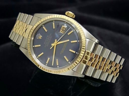 Rolex Two-Tone Datejust 1601 Blue -4