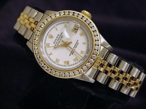 Rolex Two-Tone Datejust 69173 Diamond White-8
