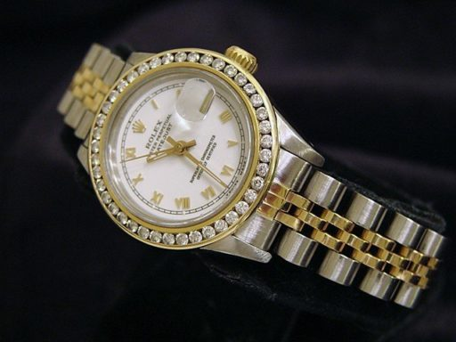 Rolex Two-Tone Datejust 69173 Diamond White-7