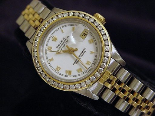 Rolex Two-Tone Datejust 69173 Diamond White-6