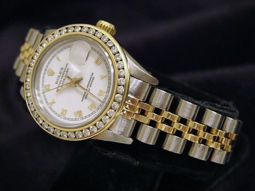 Rolex Two-Tone Datejust 69173 Diamond White-4