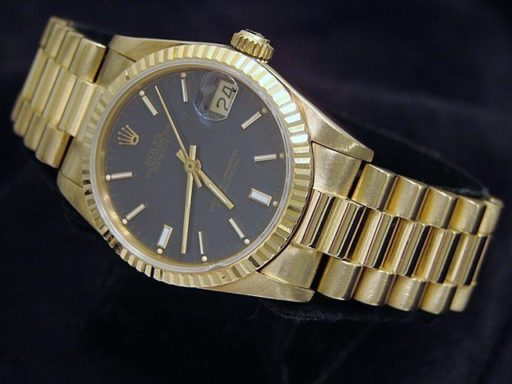 Rolex Yellow Gold Datejust President 68278 Blue-6