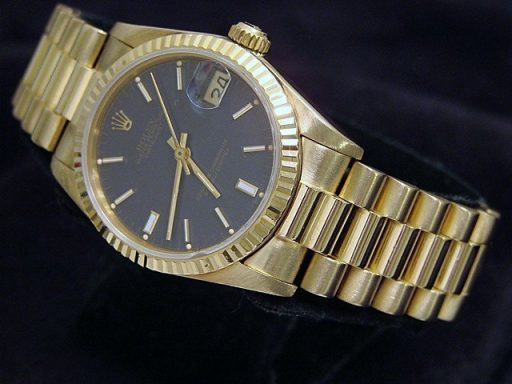 Rolex Yellow Gold Datejust President 68278 Blue-5