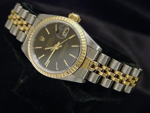 Rolex Two-Tone Datejust 69173 Black -4