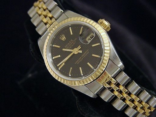 Rolex Two-Tone Datejust 69173 Black -3