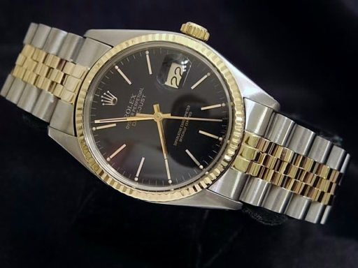 Rolex Two-Tone Datejust 16013 Black -4