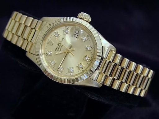 Rolex Yellow Gold Date President Diamond 6917 Champagne-5