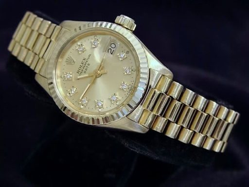 Rolex Yellow Gold Date President Diamond 6917 Champagne-4